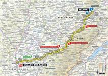 Stage profile | Tour de France | Stage 7 | Belfort-Chalon-sur-Saône (230 km)